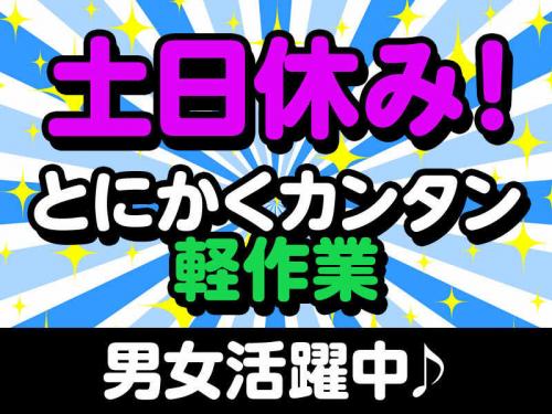 【救済採用中】食品のピッキング・検品作業!